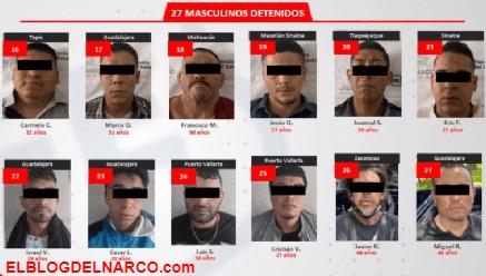 Los 33 detenidos tras enfrentamiento en Zapopan; Jalisco, pertenecen al CJNG
