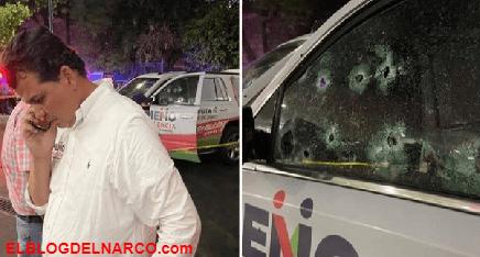 Balean camioneta de Memo Valencia quien se le relaciona con el Narco desde hace años