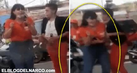 Este es el Video del momento en que Sicarios ejecutaron a Alma Rosa Barragán en Moroleón