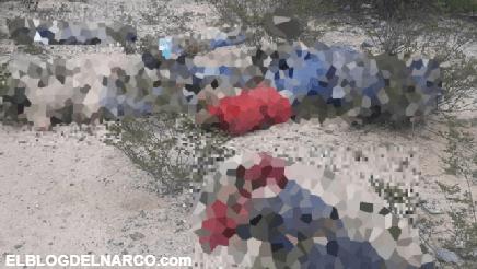FOTOS Abandonan los cuerpos ejecutados de nueve personas en San Luis Potosí