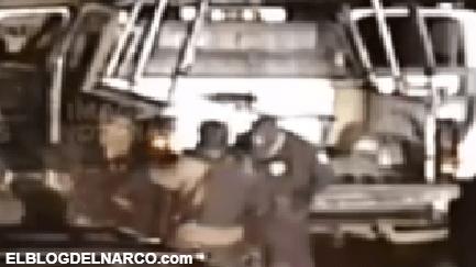 Video Así levantaron Sicarios del CDS fuertemente armados a Policías en Jerez, Zacatecas