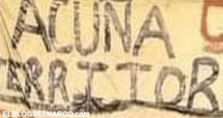 Sicarios del CDN anuncian en mantitas que Acuña; Coahuila es su territorio pero hace unos días corrieron