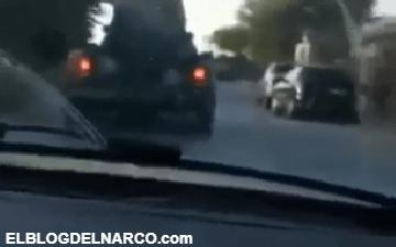 VIDEO Monstruo blindado del CDG patrulla de manera impune las calles en Tamaulipas