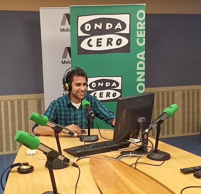 Javier Matiacci realiza sus prácticas de verano en Onda Cero.