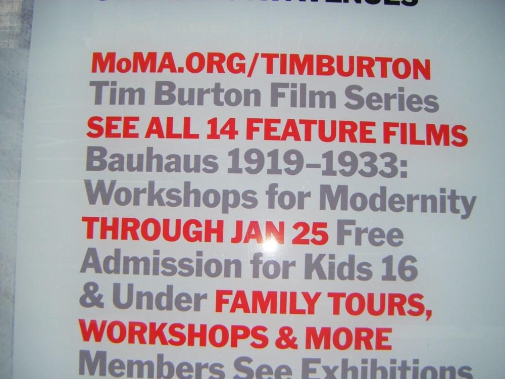 Tim Burton en el MoMA de Nueva York (2/5)