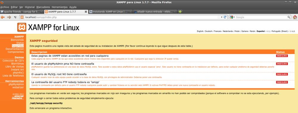 Seguridad XAMPP para Linux - Aprende a configurar tus servidores Apache y MySQL tras su instalación (1/3)