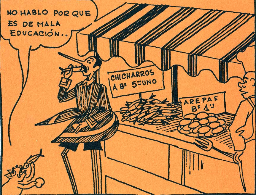 """Leo"" (Leoncio Martínez) personaje Pinocho"