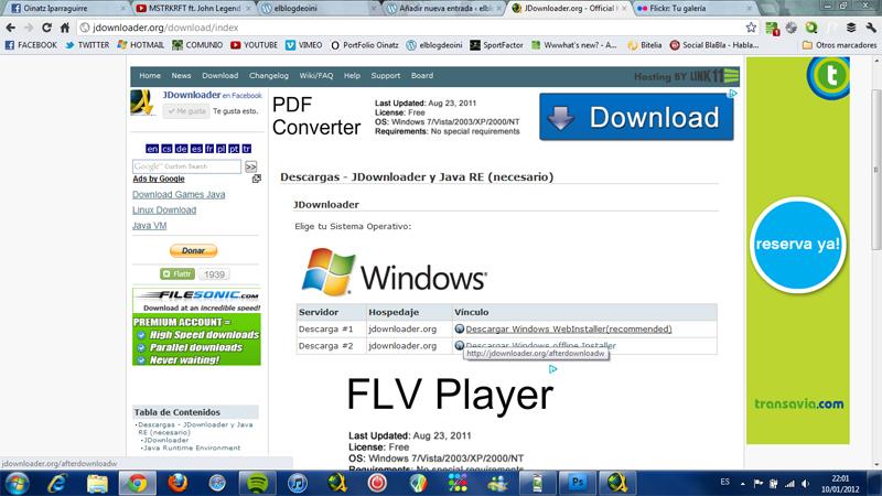 Descargas con el programa JDownloader (2/6)