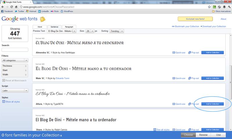 Cómo descargar fuentes gratis de Google Web Fonts (3/6)