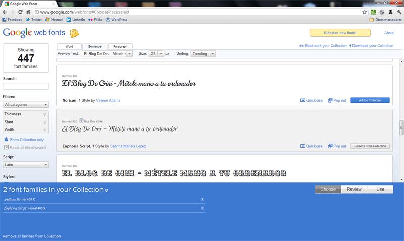 Cómo descargar fuentes gratis de Google Web Fonts (4/6)