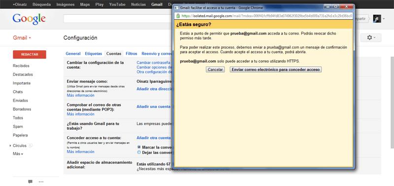 Cómo configurar la delegación del correo electrónico en Gmail (6/6)