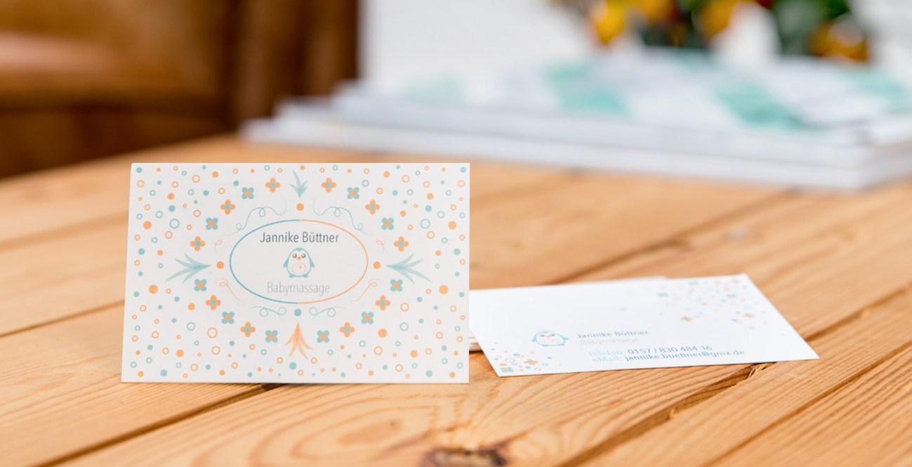 Jannike Büttner Business Cards, Visitenkarten, Logo Design Illustration