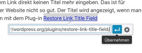 Wie Sie in WordPress einen Link einfügen · Elbnetz