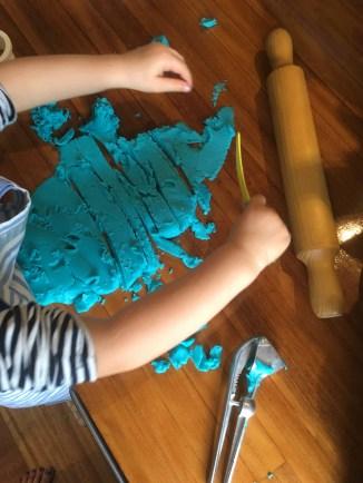Blue play dough