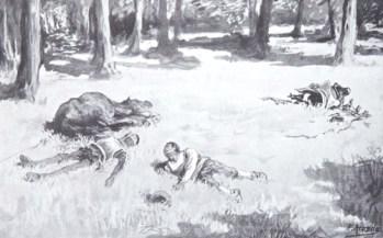 """Lámina de la edición de R.L. Cabrera, dibujada por J,Jiménez Aranda y otros artistas. Procedencia: """"Banco de imágenes del Quijote www.qbi2005.com"""""""