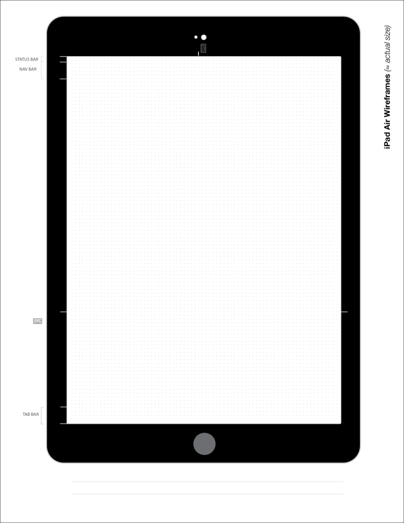 iPad Air Wireframe