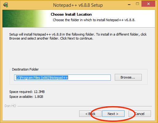 Notepad++ Install Location