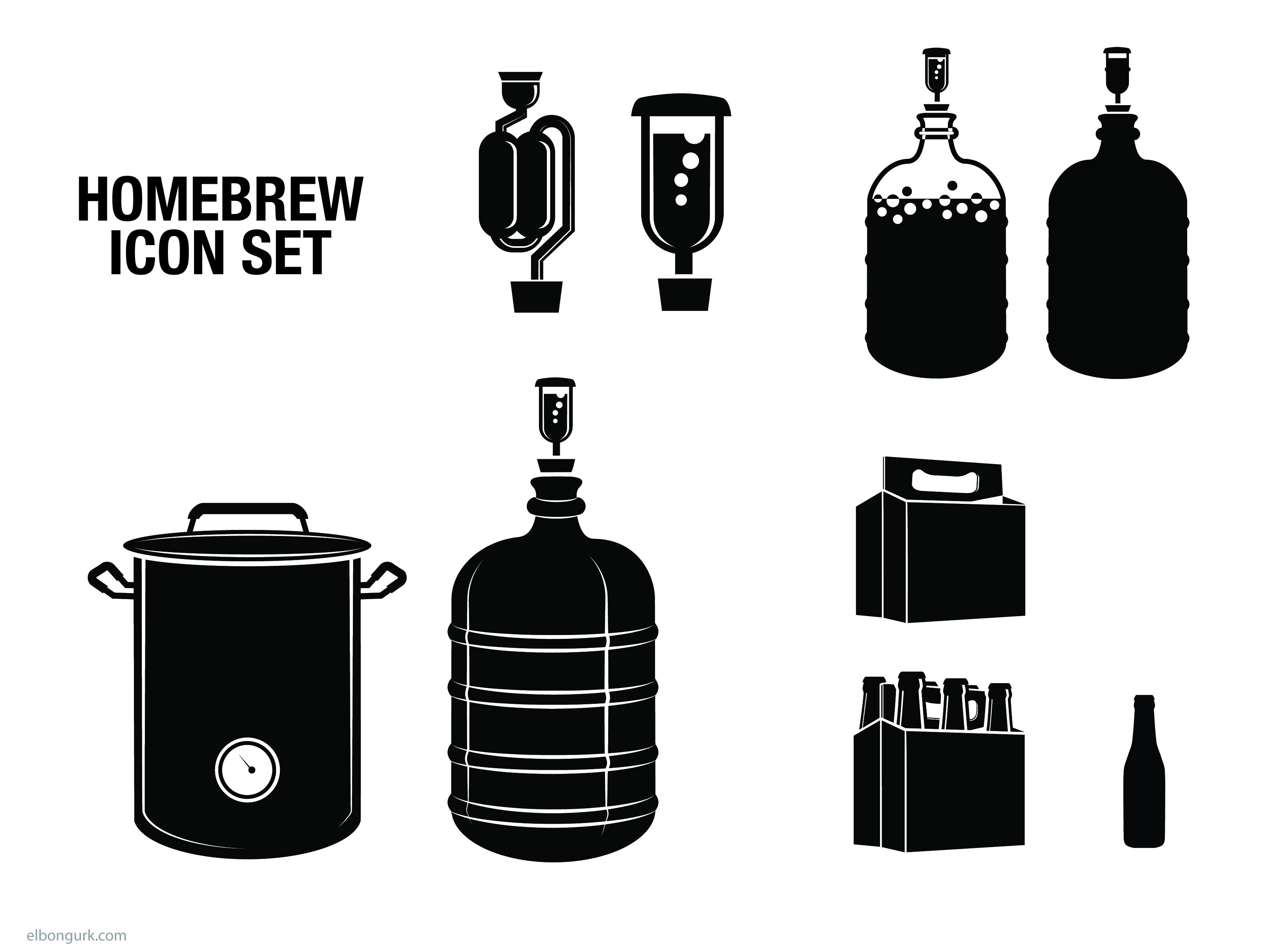 home-brew icon set