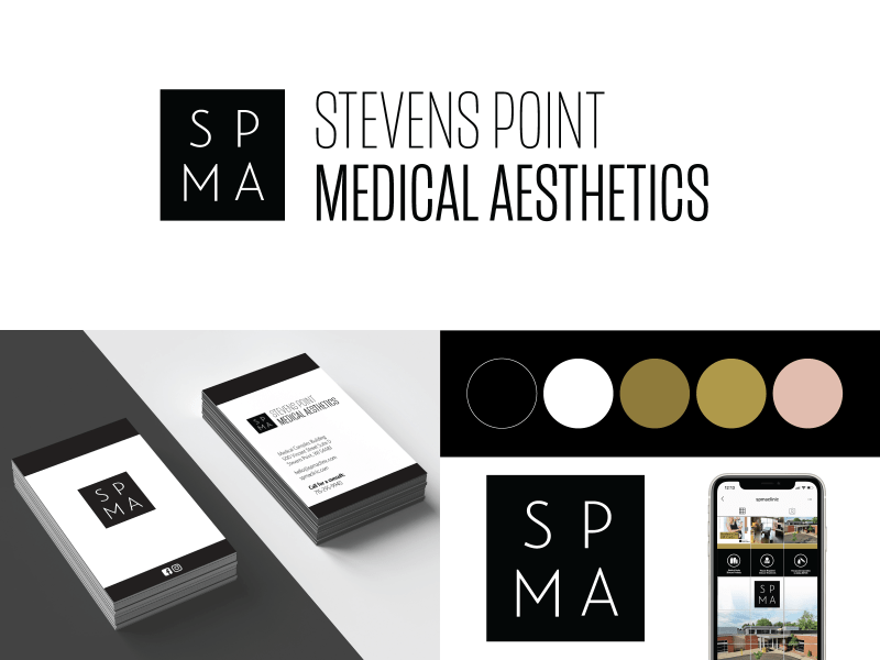 Stevens Point Medical Aesthetics Logo and Branding Work
