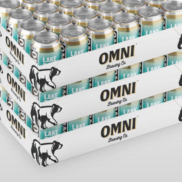 OMNI Brewing branded case tray