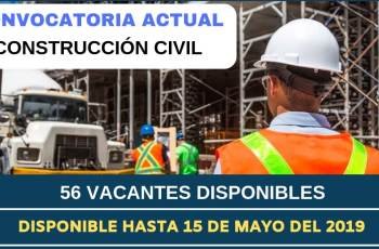 VACANTES PARA OFICIALES DE CONSTRUCCIÓN