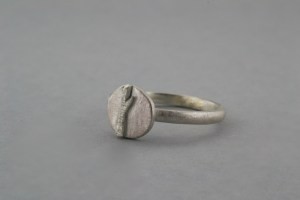 Silver tree and moon ring
