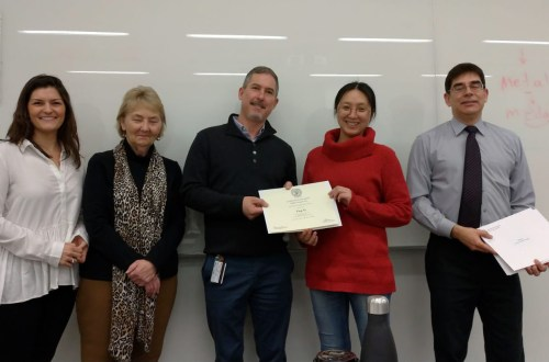 Photo of certificate ceremony for Professional English