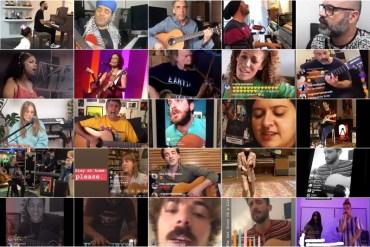 Artistas fazem show online para encarar confinamento
