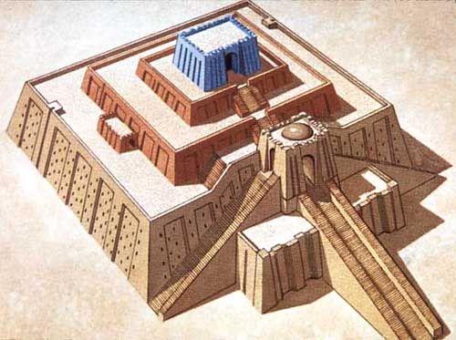 Reconstrucción de Zigurat de Ur