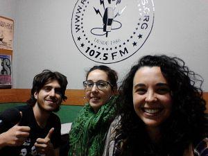 De izq. a der. Javier Ferández, Lucía Triviño y Laura Castro