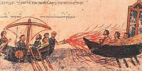 Historia militar de Bizancio: fuego griego