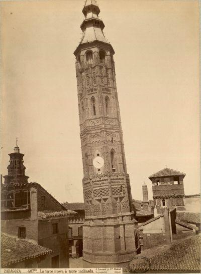 La Torre Nueva que estaba situada en Zaragoza. Fotografía de J. Laurent