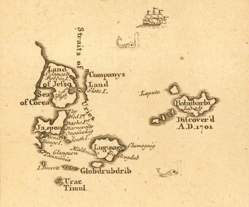 Mapa de Laputa_ Viajes de Gulliver