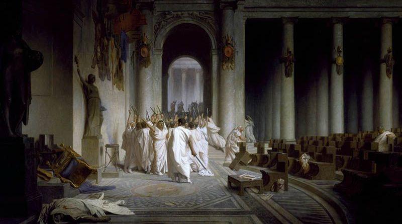 El pintor francés reflejó la muerte de Julio César