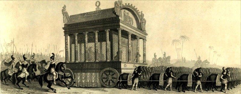 Catafalco de Alejandro, según la descripción de Diodoro