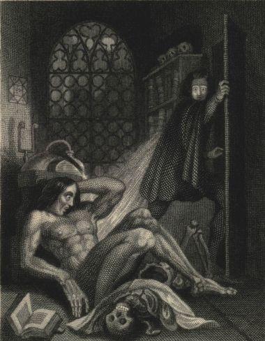 Portada de Frankenstein de Mary Shelley, edición de 1831.