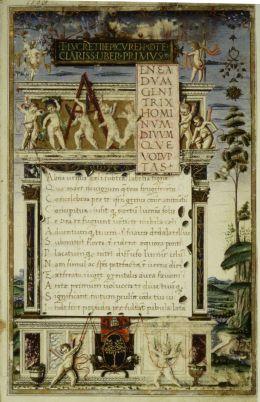 Manuscrito de Lucrecio de 1483.