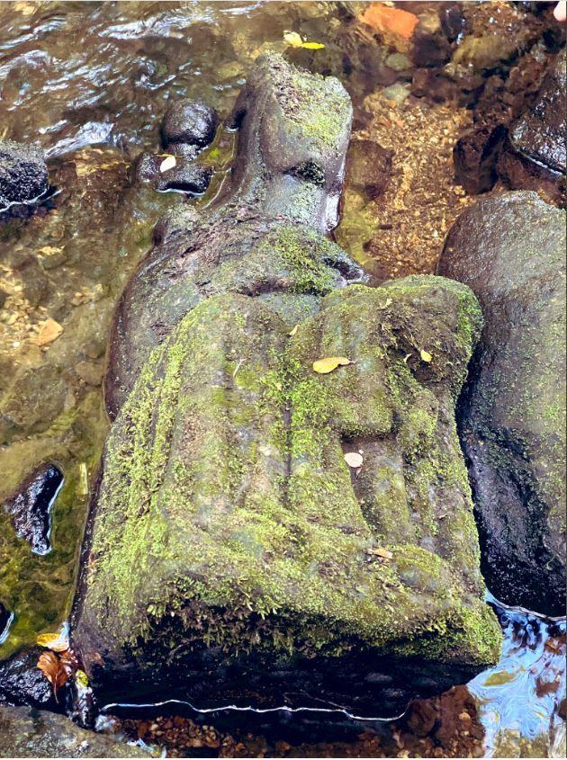 Imagen de la virgen del Sar ( Galicia)
