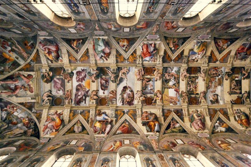 Los frescos de la bóveda de la Capilla Sixtina (Miguel Ángel Buonarroti, 1508-1512)
