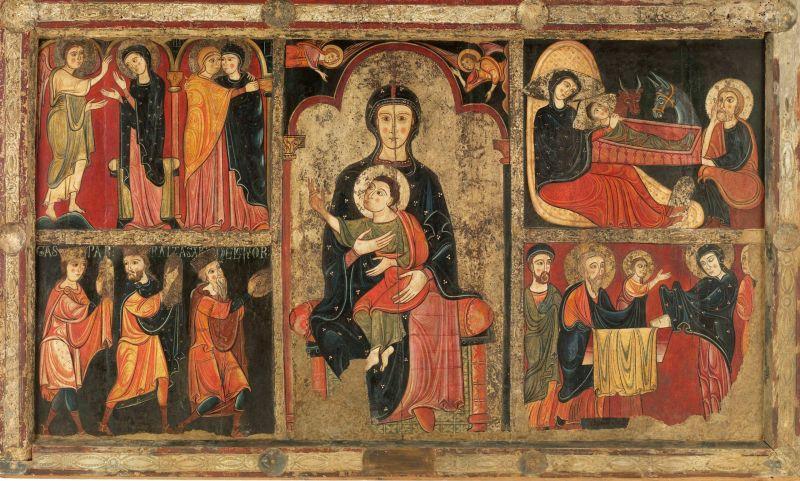 Frontal de altar de Avià (Anónimo, c.1200) (Museo Nacional de Cataluña, Barcelona)