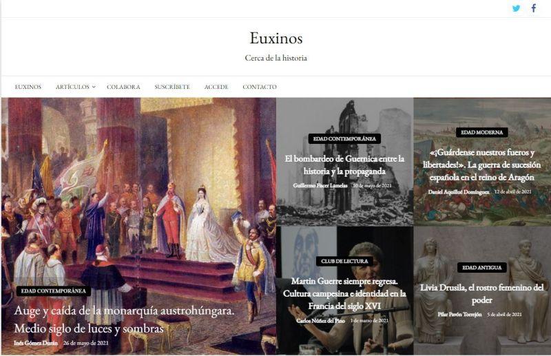 Euxinos - historia- divulgación