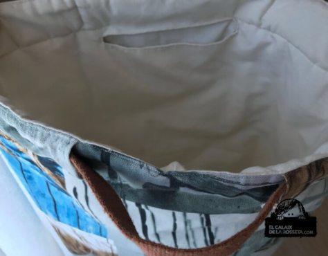 Bolsa tipo capazo estampado de playa