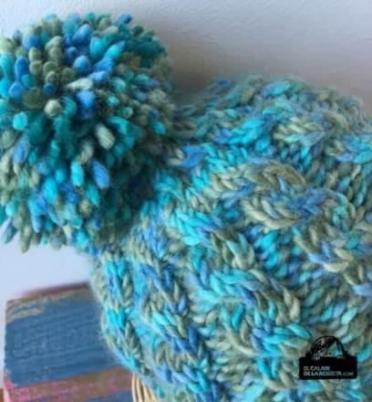 Gorro de trenzas en lana de alpaca