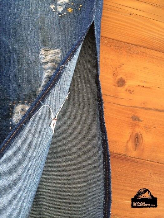 Bordados en mis pantalones vaqueros rotos