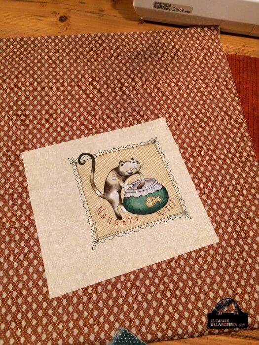 bolsa gatito con corazones