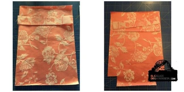 Bolsas guardatodo en ropa de colchon antiguo