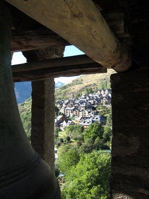 Taüll visto desde el campanario de Sant Climent