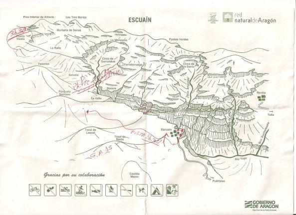 Itinerario ruta Escuaín - La Valle