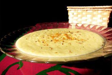Crema de apio y gorgonzola