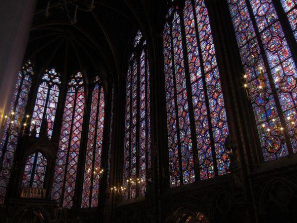 Interior de la capilla superior de la St-Chapelle